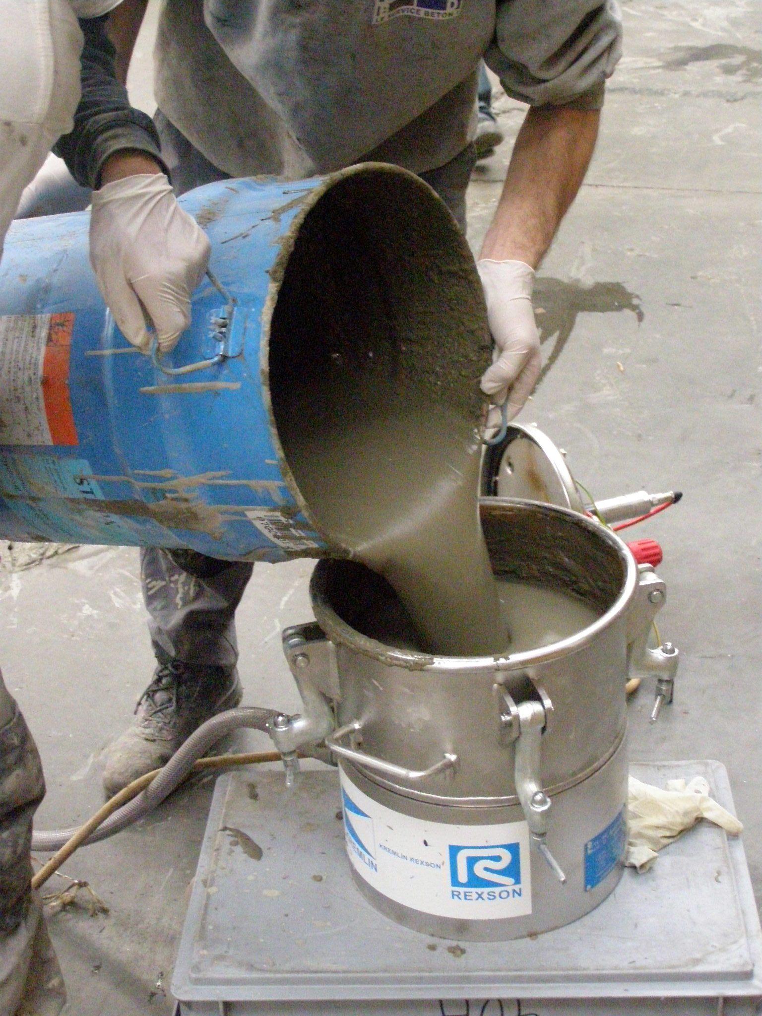 préparation du mélange pour injection sous dallage