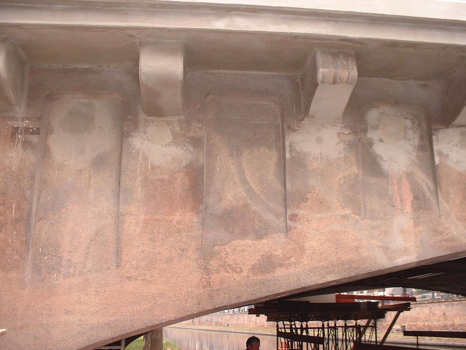 Réfection de corniches d'ouvrages d'art