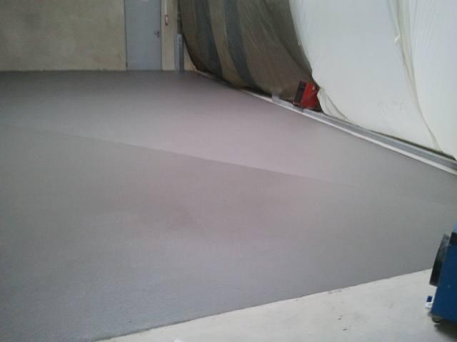 mortier polyurethane en cours de polymerisation
